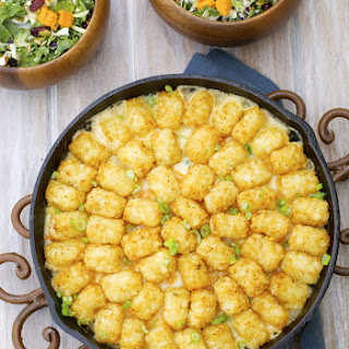 Lightened Up Tater Tot Casserole (gluten free)