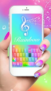 Keyboard-Glass Rainbow Colorful Super 3D Theme - náhled