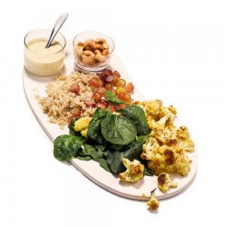 Indian Cauliflower and Quinoa Salad.