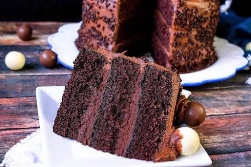 """Chocolate Truffle Cake """"What an insanely good chocolate cake recipe. People will..."""