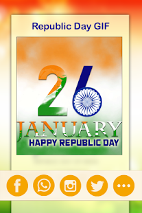 Republic Day GIF 2018 -  26 Jan Greetings GIF - náhled