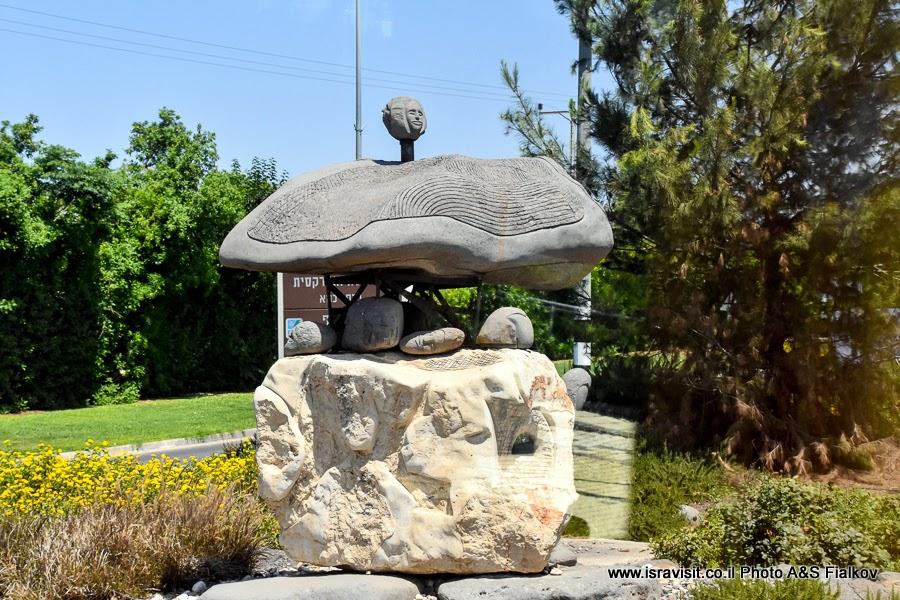 Скульптура в Кфар-Тавор. Экскурсия по Галилее, Израиль.