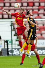Photo: Dunfermline Athletic Football Club v East Fife Football Club - Pre Season Friendly Chris Kane beats David Muir in the airAt East End Park, Dunfermline19/07/2012Craig Brown | StockPix.eu
