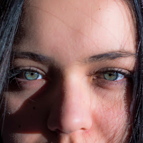 Girl's eyes by Mauro Fini - People Portraits of Women ( girl, green, eyes )