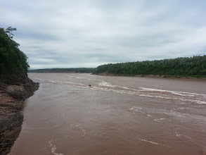 Photo: Tributary off the Bay of Fundy in Nova Scotia
