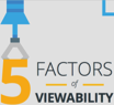 5 Factors of Viewability Infographic