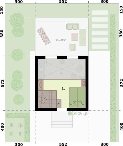 Lido 2 dom letniskowy z antresolą - Rzut poddasza