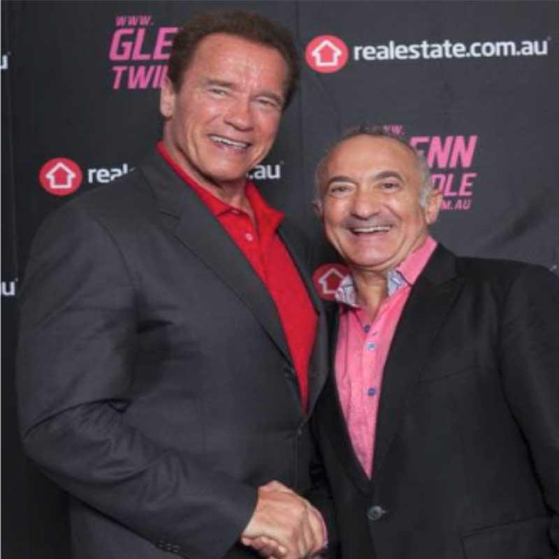 Pat Mesiti With Arnold Schwarzenegger