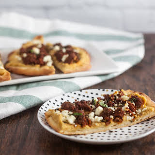 Merguez and Hummus Flatbread.