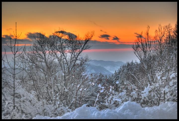 Sunset on ice di teo2000