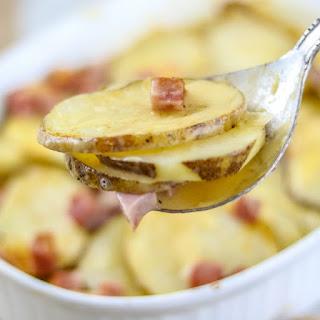 Cheesy Ham and Scalloped Potatoes.