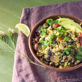 Mixed Grains Salad with Avocado and Black Beans