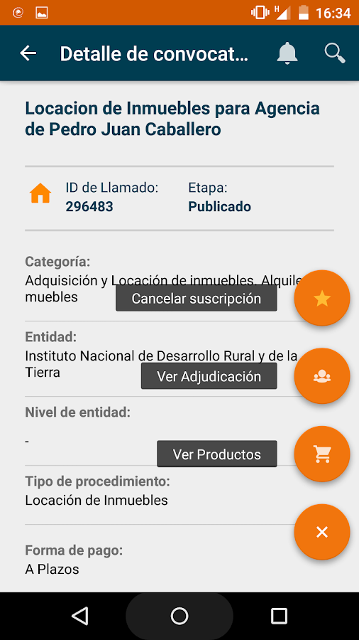 Contrataciones PY (beta)- screenshot