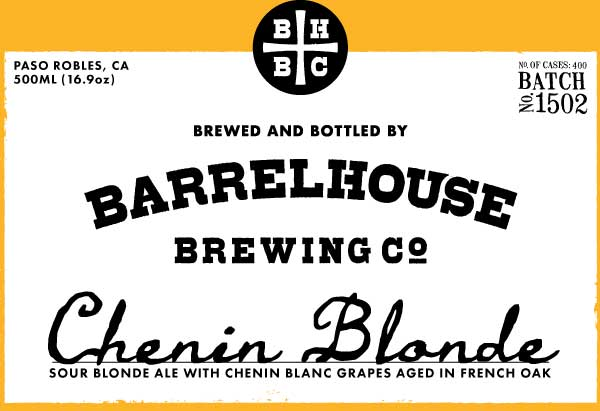 Logo of BarrelHouse Chenin Blonde / Blonde Sour with local Chenin Blanc Grapes / No. 1502
