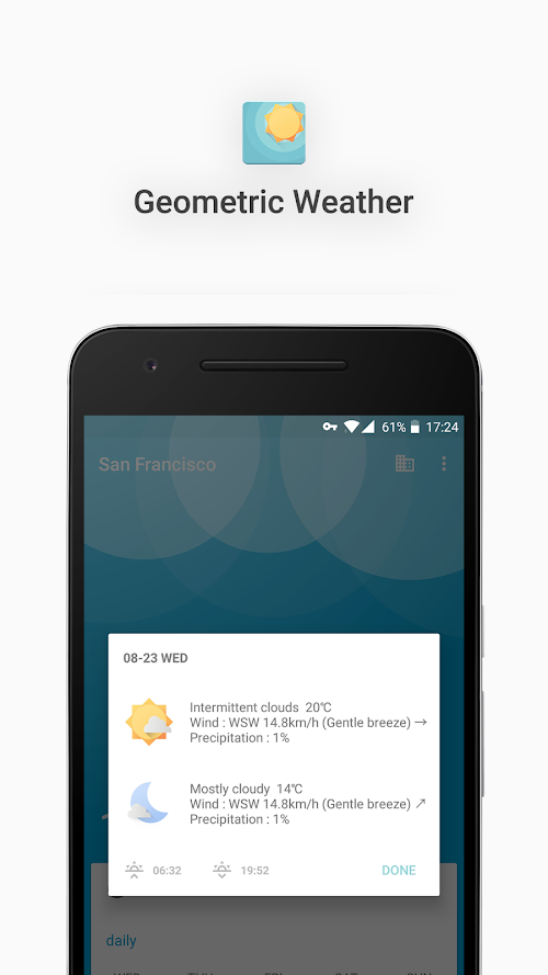 Screenshot 4 Geometric Weather 2.214 APK PAID