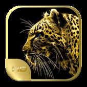 Leopard HD Wallpaper 4K Gold