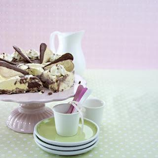 Vanilla and Chocolate Ice Cream Cake.