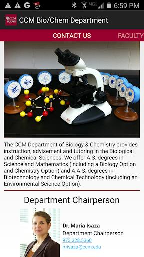 CCM Bio Chem Department