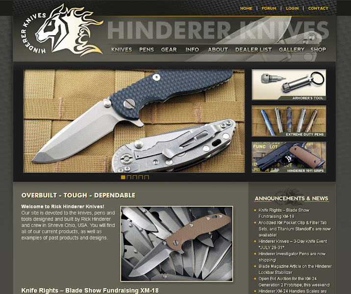 Photo: Hinderer Knives Web Design and Development