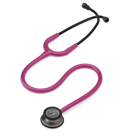 Littmann Classic III Stethoscope Smoke-Finish Chestpiece W- Raspberry Tube