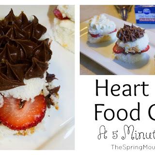 Heart Angel Food Cakes.
