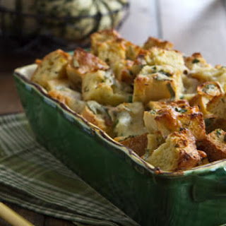 Easy Cheese and Herb Bread Pudding.