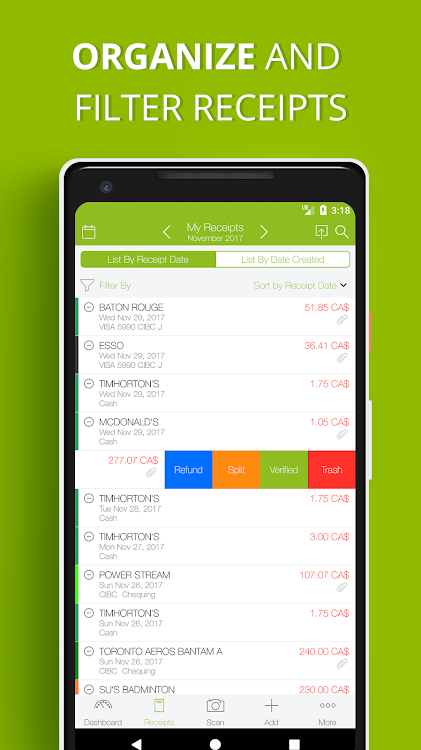 Foreceipt - Receipt Scanner & Expense Tracker App – (Android Apps
