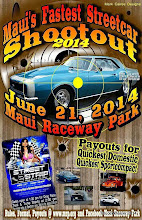 """Photo: Bruce Wheeler's photos from the June 21, 2014 Drag Races at Maui Raceway Park. These pictures are of the final rounds of the rained-out Sunday portion of the Memorial Day race, and about 2/3rds of Qualifying Round One for the regular event. (I had to hele on, so I missed the rest of that evening's action.)  PLEASE NOTE: these images are fully copyrighted, usage without formal permission from the photographer is prohibited by law. (IN OTHER WORDS; try ask fo' use 'em...please.)  DVDs of all full-size, high resolution images are available dirt cheap. For pricing, please inquire c/o wheelerdealer @ maui-angels . com  For Maui Raceway Park track info online: http://www.mrp.org  For Maui Raceway Park on Facebook: https://www.facebook.com/maui.raceway.park?fref=ts  To see all of my online Maui drags and travel photography albums go here: http://www.maui-angels.com/wheelerdealer/photoalbums.html  Please visit my Wheeler Dealer AA/Fuel Dragsters web pages: http://www.maui-angels.com/wheelerdealer  And, please """"like"""" the Wheeler Dealer Facebook page: https://www.facebook.com/pages/Bruce-Wheelers-Wheeler-Dealer-AAFuel-Dragsters/119133934834675?ref=ts&fref=ts  Poster art mahalo to Mark Caires Designs"""