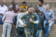 Kaizer Chiefs captain Itumeleng Khune jogging during a media day at the club's training base in Naturena, south of Johannesburg.