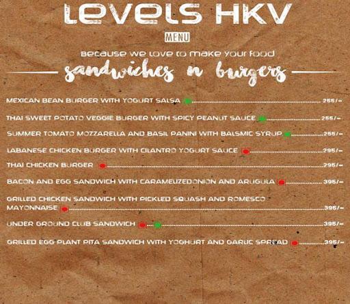 Menu 18 - Levels HKV, Hauz Khas Village, New Delhi