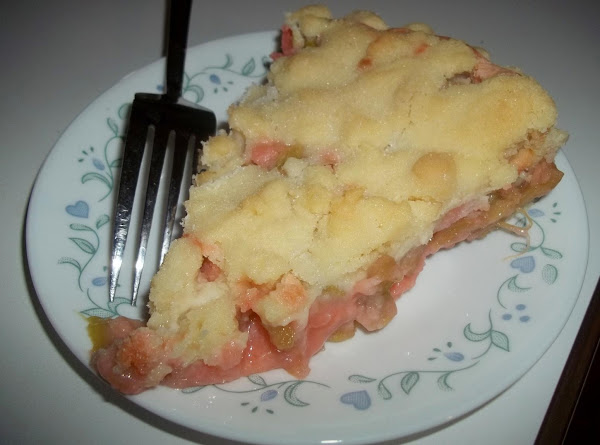 Rhubarb Custard Crumble Pie Recipe