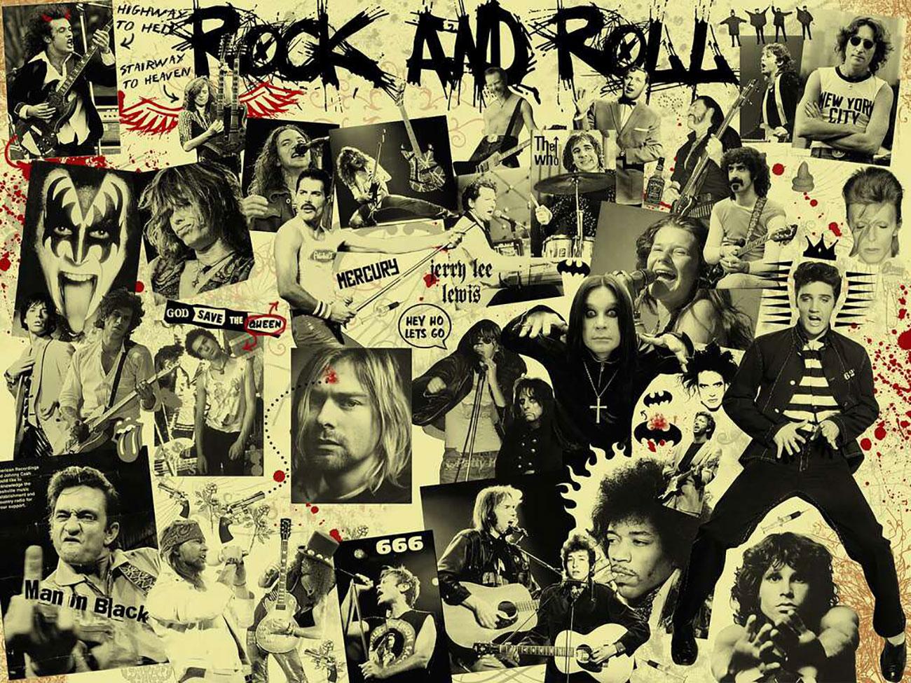 Famosos do Rock n Roll