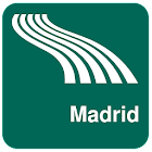 Madrid Map offline icon