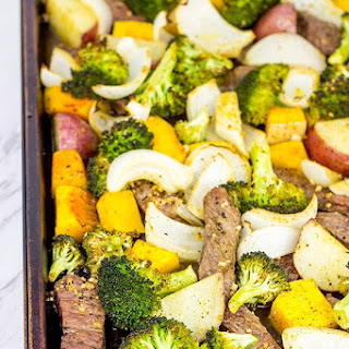Sheet Pan Steak and Roasted Veggies