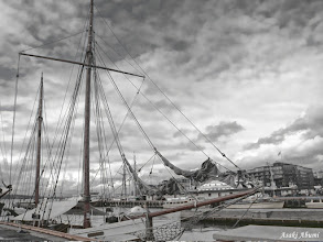 """Photo: Aker Brygge in Oslo, Norway My friend who saw this picture said, """"It looks like something ominous is going to happen"""" :O"""