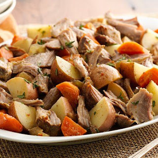 Make-Ahead Slow-Cooker Herbed Pork and Red Potatoes.