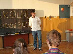 Photo: Školní kolo recitační soutěže - Jonáš z 2. A.
