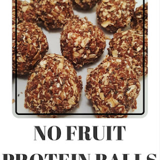 No Bake, No Fruit Protein Balls