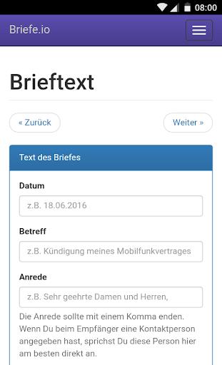 Briefe schreiben u2013 PDF zum Versenden oder Drucken 1.2.1 screenshots 3