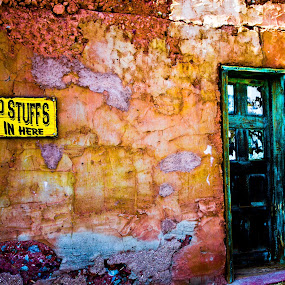 Old town by Jorge Villalba - Artistic Objects Other Objects ( sign, calico, old, old town, door, yellow )