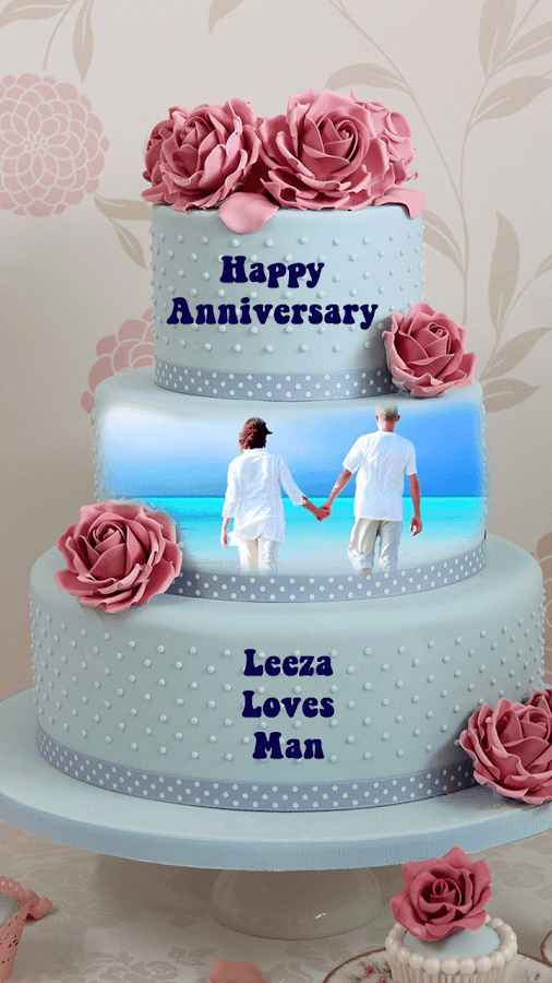 Cake Ideas For One Year Anniversary : Name Photo On Anniversary Cake - Android Apps on Google Play
