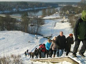 Photo: Merkinės piliakalnis. Paskutiniai laipteliai įveikti su šypsena :)