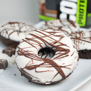 Dark Chocolate and Coconut Protein Doughnuts