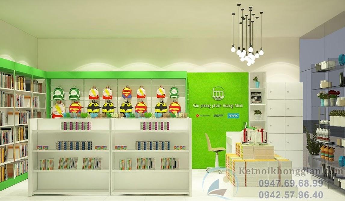 thiết kế cửa hàng văn phòng phẩm nhỏ
