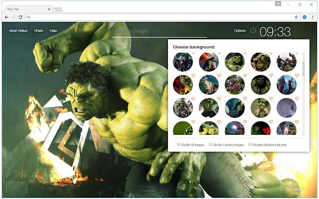The Hulk Backgrounds HD Custom Marvel New Tab