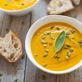 Vegan Turmeric Pumpkin Soup.
