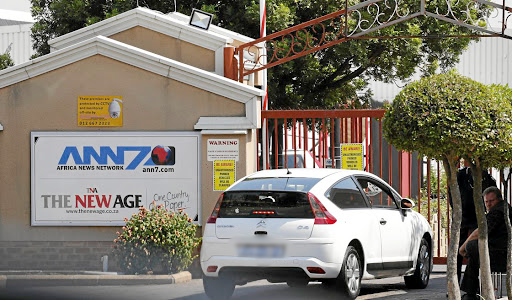 The entrance to the offices of ANN7 Television and The New Age newspaper, in Midrand. Picture: REUTERS/SIPHIWE SIBEKO