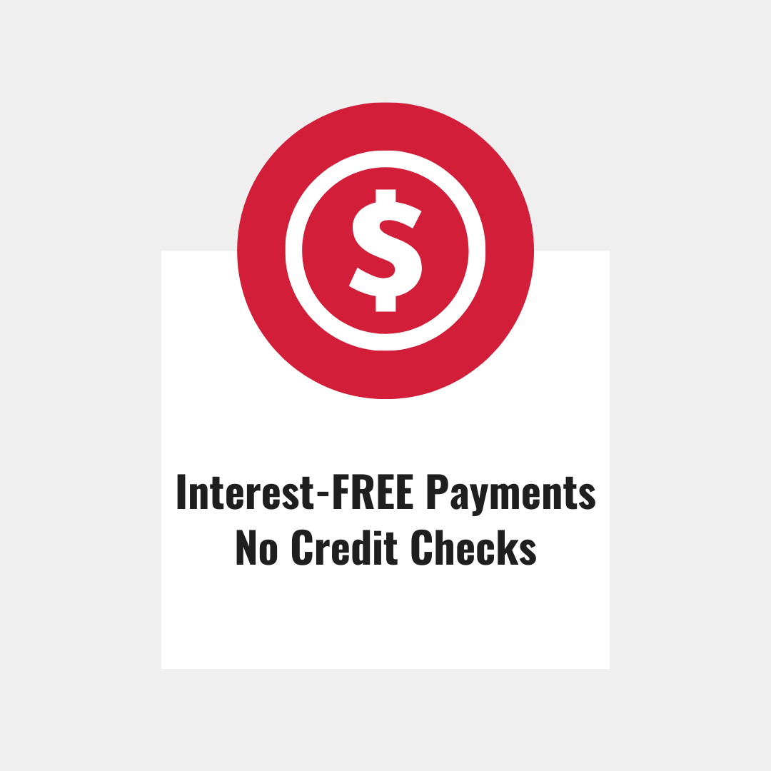 Interest Free Payments and no credit checks