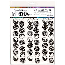 Dina Wakley Media Tissue Pack 7.5X10 20/Pkg  - Backgrounds