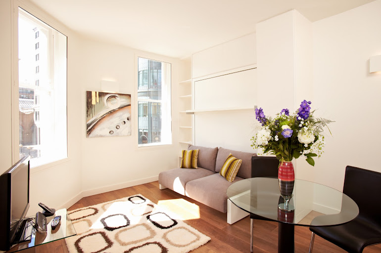 Living room at London City Apartments